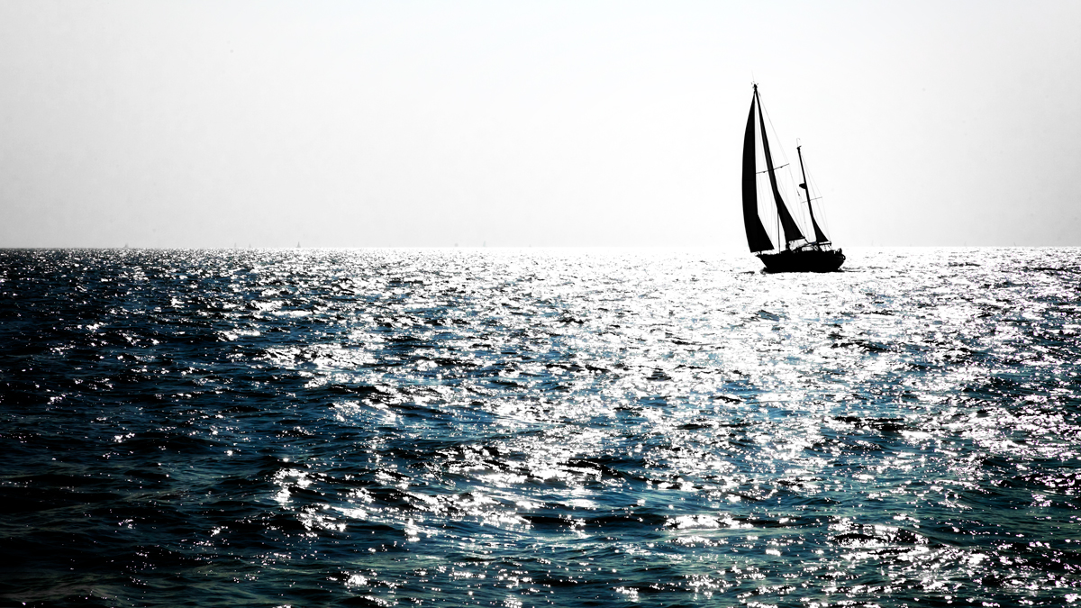 Zon op het water